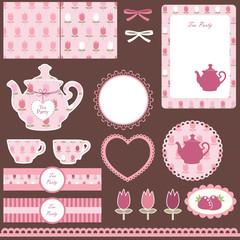 Scrapbook set for tea party