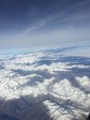 canvas print picture - Bergspitzen aus den flugzeug