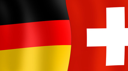 FlagBanner fb1 - flags of Germany and Switzerland - 16to9 g3013