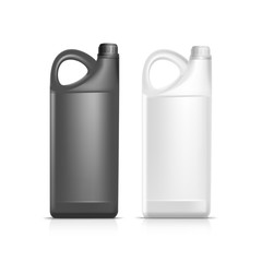 Blank Plastic Jerrycan Canister Gallon Oil