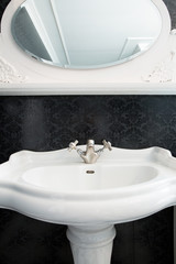 Washbasin in elegant bathroom