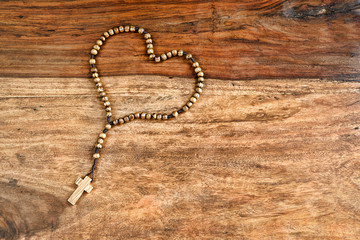 Simple Cross Heart Shape - Rustic