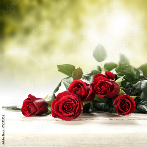 canvas print picture bouquet of roses
