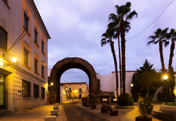 Arch of Trajan of Merida in dawn