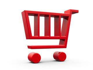 Red shop cart