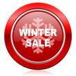 canvas print picture - winter sale icon