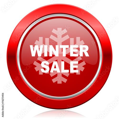 canvas print picture winter sale icon