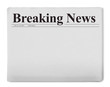 canvas print picture - Breaking news title on newspaper