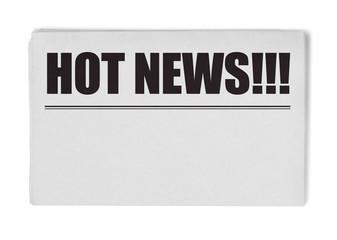 Hot news title on newspaper