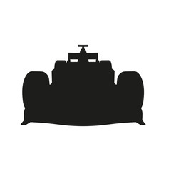 Racing car vector silhouette