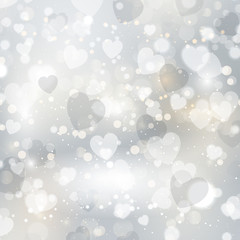 Silver hearts background