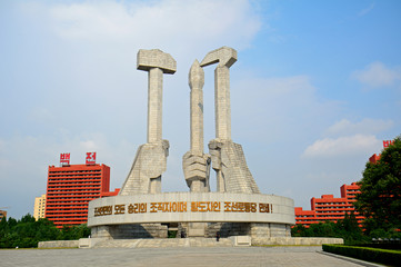Communist Party Monument, Pyongyang, North-Korea