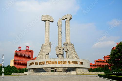 Communist Party Monument, Pyongyang, North-Korea