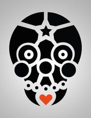 teschio skull vector