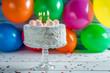 Enjoy your coconut birthday cake