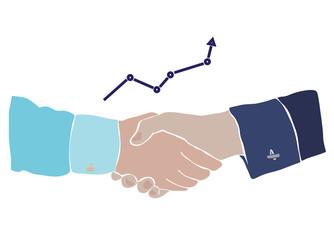 handshake and chart