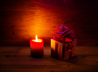gift and with candles