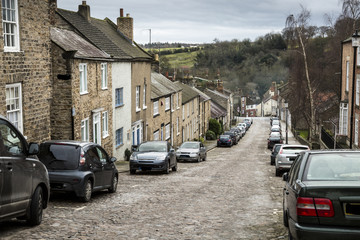 Terraced houses on hill at Richmond