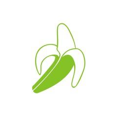 Icono plátano verde