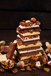 stack of various chocolate bars