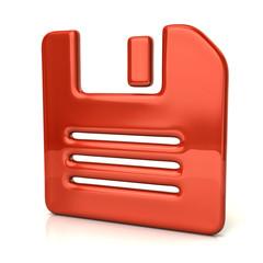Orange floppy disk icon