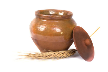 clay pot for storing food
