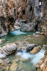Rapids in Dovzanova soteska gorge