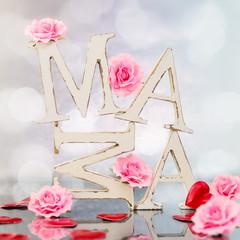 Mama - Holzbuchstaben