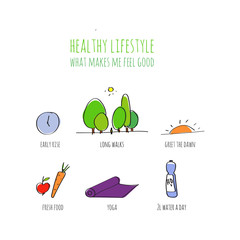 Healthy lifestyle infographic, doodle hand drawn illustration.