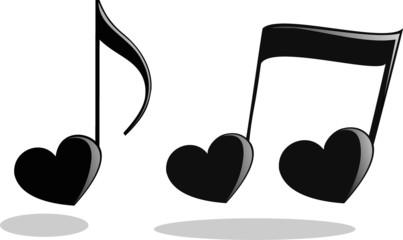Сердечки-ноты к дню святого валентина