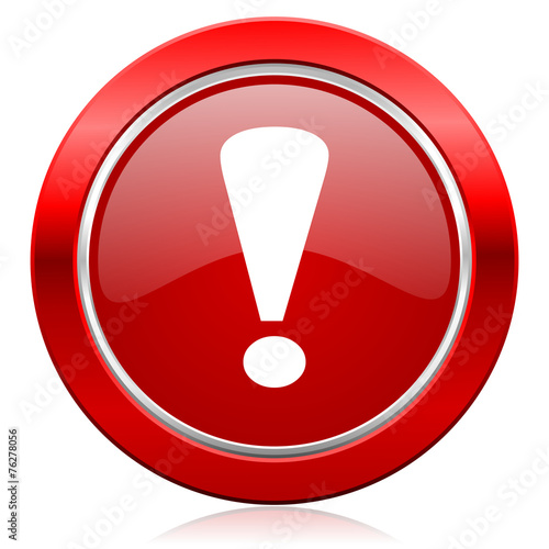 canvas print picture exclamation sign icon warning sign