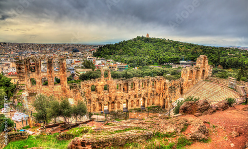 Fotobehang Athene Odeon of Herodes Atticus, an ancient theatre in Athens, Greece