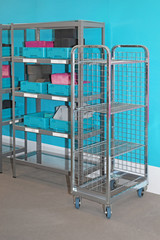 Storage wire cart