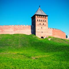 The Kremlin walls in Novgorod the Great