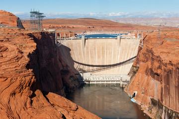 Glen Canyon Dam Bridge over Colorado near Page, Arizona