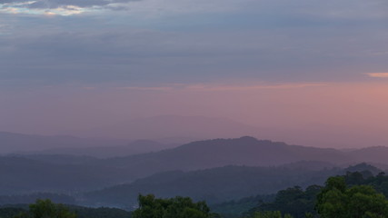Mountain view at sunrise timelapse