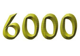 sarı renkli 6000 sayısı