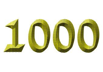 sarı renkli 1000 sayısı
