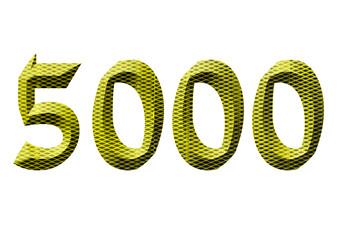 sarı renkli 5000 sayısı