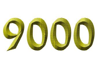 sarı renkli 9000 sayısı
