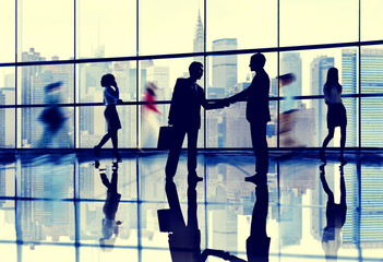 Business People Connection Interaction Handshake Agreement