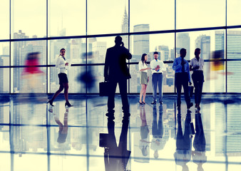 Business People Talking Conversation Communication Interaction