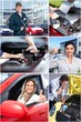 Car repair collage.