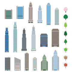 様々な高層ビル