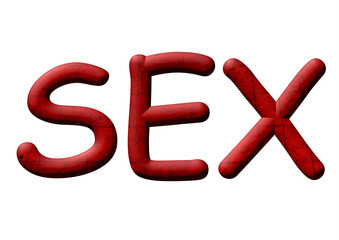 kırmızı renkli sex yazısı