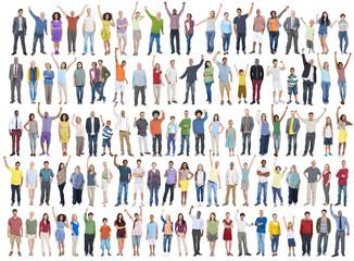 People Diversity Success Celebration Community Crowd Concept