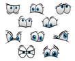 Big blue eyes in cartoon or comic style - 76281433