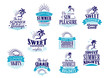 Summer holidays and vacation emblems in blue colors - 76281440