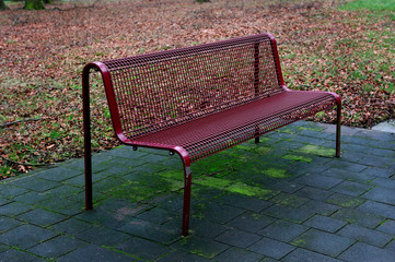 autumn, bench, golden, old, time, waiting
