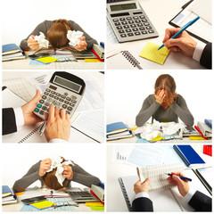 Businessman having stress
